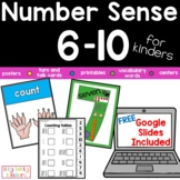 Number Sense 6-10 Printable packet plus GOOGLE SLIDES™ for
