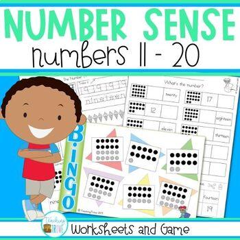 Number Sense Teen Numbers 11 to 20