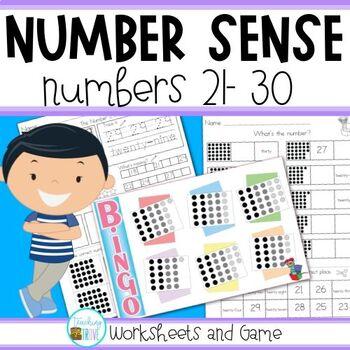 Number Sense - Numbers 21 - 30