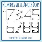 Number Sense Numbers With Angled Dots Counting Numbers Clip Art Commercial Use