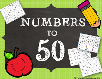 Numbers to 50 {before&after, number lines, missing number, & more!}