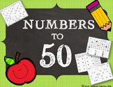 Numbers to 50 {before&after, number lines, missing number,