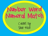 Number Sense Numeral Match - Flash cards - Common Core Math