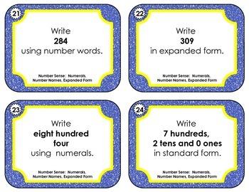 Number Sense  -  Numerals, Standard Form, Number Names, and Expanded Form