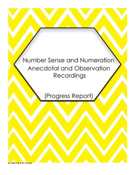 Number Sense Numeration Anecdotal and Oberservation Recordings