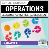 Operations Math Unit - Number Sense (Integers, Fractions,etc.) - Grade 8