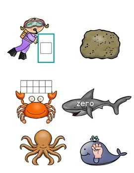 Number Sense Ocean!  Quick Math Center for PreK, K, & Homeschool