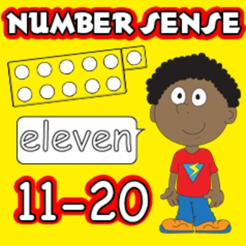 Number Sense Pack - Addition, Subtraction Numbers 11-20, Math Centers