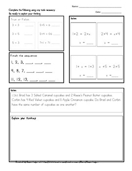 Number Sense Packet
