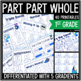 Part Part Whole Differentiated Printables - Math Skill Bui