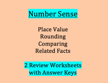 Number Sense - Place Value Mixed Review/Assessment  - 3rd grade SOL
