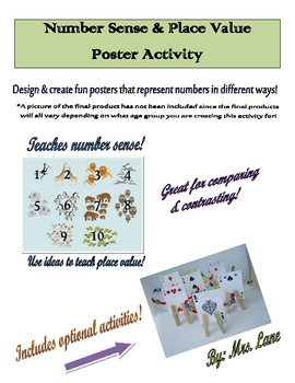 Number Sense & Place Value Poster Activity (For Elementary)