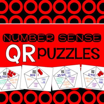 Number Sense Place Value QR Puzzles