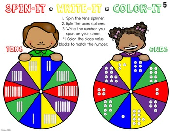 Number Sense & Place Value Spin-Its Math Stations