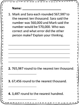 Go Math chapter 1 Fourth Grade  Number Sense, Place value, Rounding