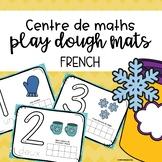 Number Sense Play dough mats - Ten Frames - FRENCH - Winter