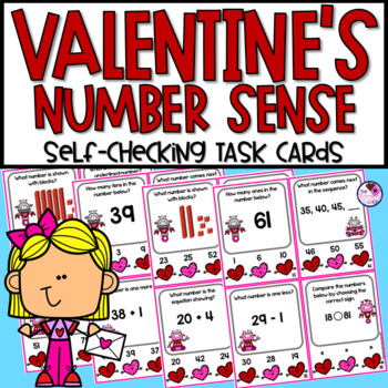 Valentine's Day Math With Number Sense Poke Cards Activity & Printables
