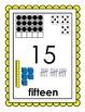 Number Sense Posters 0-20 Bundled