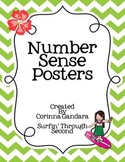 Number Sense Posters 1-20 Tropical Themed