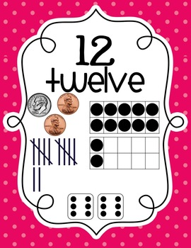 Number Sense Posters 1-20-Chevron/Dots