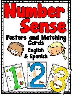 Number Sense Posters & Cards in English & Spanish