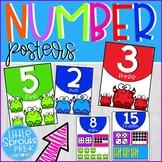 Classroom Decor - Number Sense Posters - PreK, K and Preschool