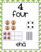 Number Sense Posters in English and Hawaiian