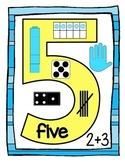 Number Sense Posters (#'s1-10)