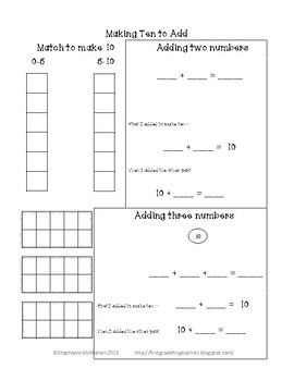 Number Sense Intervention Pack (RTI, Home, Small Group)