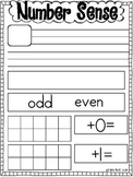 Number Sense Practice Sheet FREEBIE