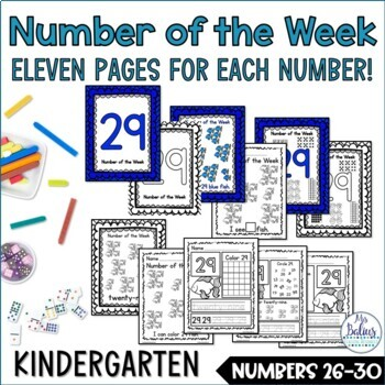 Number Sense Pre-Kindergarten Numbers 26-30 Math Practice