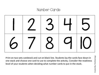 Number and Number Sense Activity
