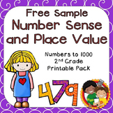FREE SAMPLE: Number Sense Printables for 2nd Grade