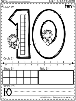 Number Sense Activities - Number Recognition Printables