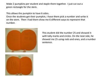 Number Sense Pumpkins