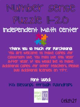 Number Sense Puzzle 11-20