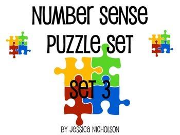 Number Sense Puzzle Center - Set 3 of 3