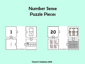 Number Sense Puzzle Pieces