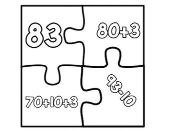 Number Sense Puzzle Sets - Set 2 of 3