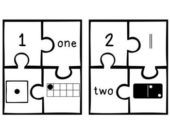 Number Sense Puzzles 1-20