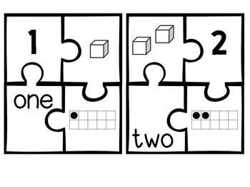 Number Sense Puzzles: 1-20