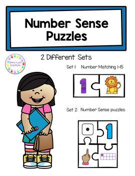 Number Sense Puzzles- Free!