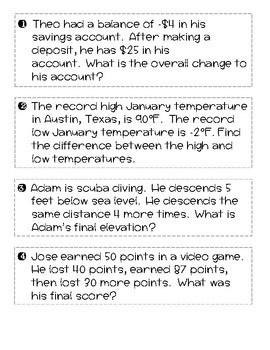 Number Sense Question Hunt - Review Activity!
