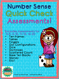 Number Sense Quick Check Assessments 0-5 6-10 11-15 16-20 0-20