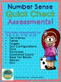 Number Sense Quick Check Assessments 0-5 6-10 11-15 16-20 0-20