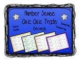 Place Value, Comparing, Rounding: Quiz and Trade 3 Game Bundle- Decimals