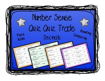 Place Value, Comparing, Rounding: Quiz and Trade 4 Game Bu