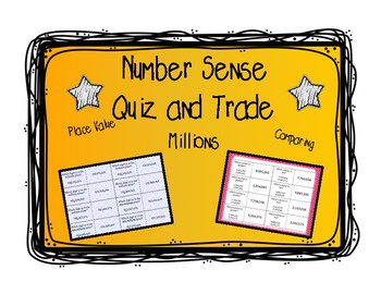 Place Value, Comparing: Quiz and Trade 2 Game Bundle - Mil