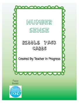 Number Sense RIDDLE Task Cards!
