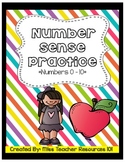 Number Sense - Read, Trace, Write, Draw! {0 - 20}